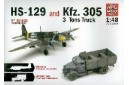 1/48 HS-129 and KFZ-305 truck