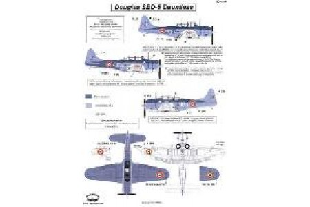 1/48 French SBD-5 Indochina decal