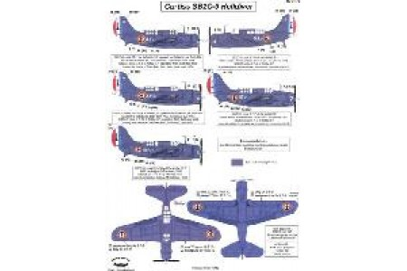 1/72 French SB2C-5 Indochina decal