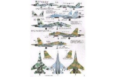 1/48 African MiGs and Sukhois decal