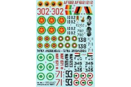 1/48 MiG-21 African airforce P. 1 decal