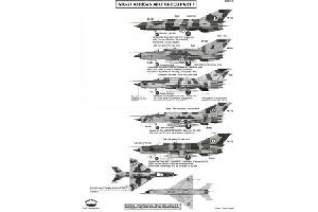 1/72 MiG-21 African airforce P. 1 decal