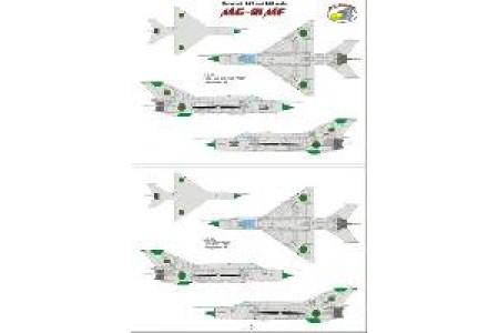 1/48 International MiG-21 decal Vol. 1