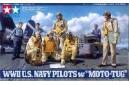 1/48 WWII US Navy pilots w/ moto-tug