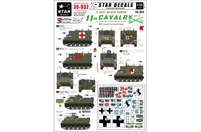 1/35 US APCs in Vietnam and Cambodia decal Part 2