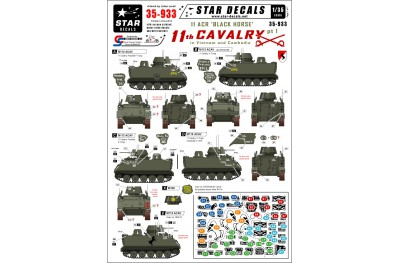 1/35 US APCs in Vietnam and Cambodia decal part 1