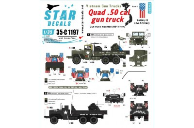 1/35 Vietnam Gun trucks Decal Part 4
