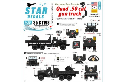 1/35 Vietnam Gun trucks Decal Part 5