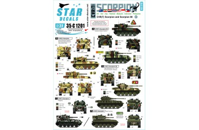 1/35 International Scorpions Decal Part 1