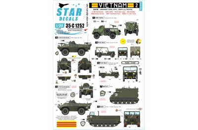 1/35 Vietnam ARVN Decal Part 2
