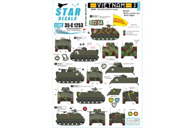 1/35 Vietnam ARVN Decal Part 3