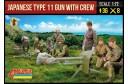 1/72 Japan Type 11 gun w/ crew