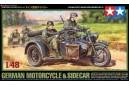 1/48 German BMW Motorcycle w/sidecar