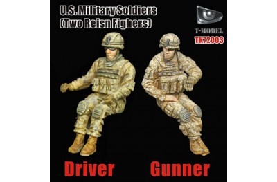 1/72 US military driver and gunner (2 pcs)