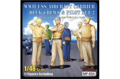 1/48 US Navy deck crews and pilot set 2
