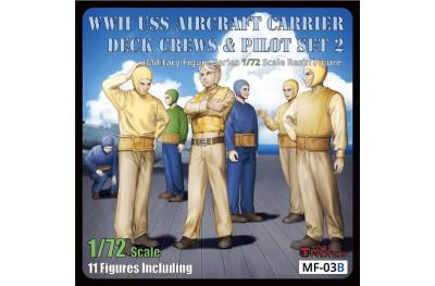 1/72 US Navy deck crews and pilot set 2