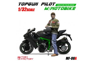 1/32 Top Gun pilot with motorbike