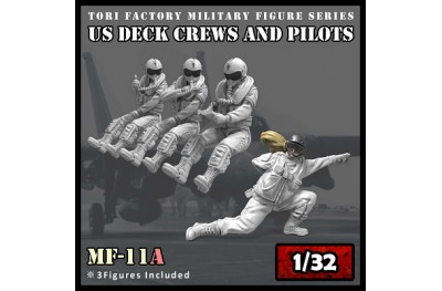1/32 US modern pilots and deck crew