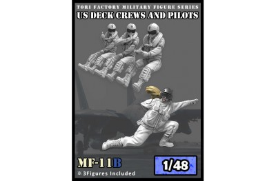 1/48 US modern pilots and deck crew