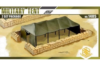 1/72 Military tent with sandbag (2 pcs)