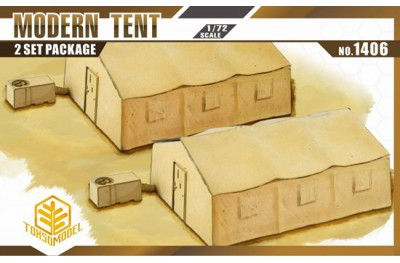 1/72 Military tent with aircon (2 pcs)