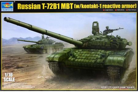 1/16 Russian T-72B1 MBT w/ Kontakt 1 reactive armor
