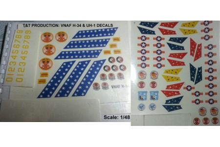 1/48 VNAF H-34 & UH-1 Decal