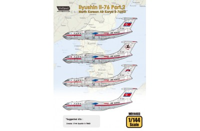1/144 North Korean Air Koryo IL-76 decal