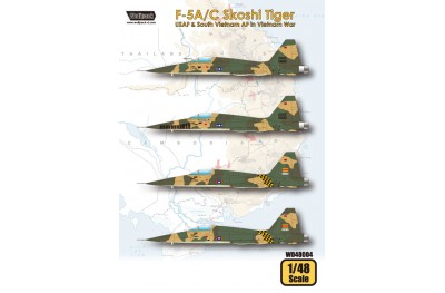 1/48 F-5A/C Skoshi Tiger in the Vietnam war decal