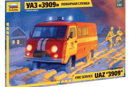1/43 UAZ-3909 Fire service/ Utility Car