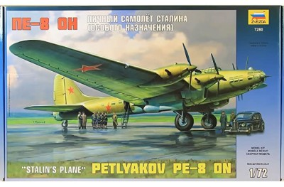 1/72 Petlyakov Pe-8 ON Stalin plane